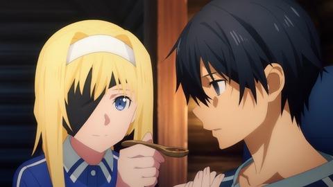 【悲報】SAO第4期が酷すぎる…OPからホモタッチが消滅し、金髪の女がキリトを介護するだけのアニメに成り果てる…