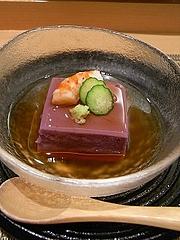紫陽花豆腐(紫芋入りごま豆腐)