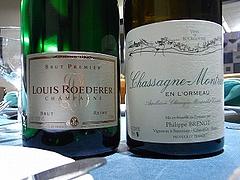 ルイ・ロデレールとシャサーニュ・モンラッシェ