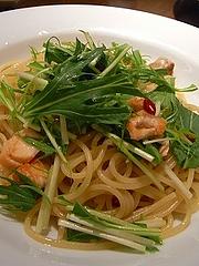 サーモンと水菜のスパゲッティ