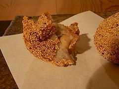 里芋と生落花生の芥子の実揚げ