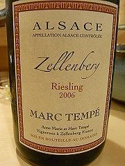 アルザス・ツェレンベルグ・リースリング・マルク・テンペ