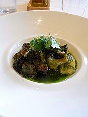 エスカルゴ、帆立貝、茸のフリカッセ、ブルゴーニュ風