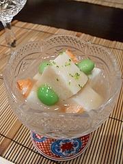 高野豆腐、エビ、枝豆、青ユズ