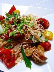 夏野菜の冷製カペリーニ