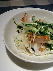 生ホタテのサラダ