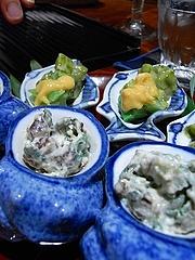 筍 野甘草の酢味噌 たらのめ干し柿ぜんまい白和え 干し柿 明石の西貝 明石のお醤油で焼き上げて
