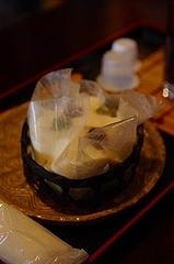 京都 一乗寺中谷 の絹ごし緑茶てぃらみす