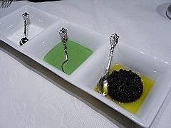 海塩、パセリとニラのマヨネーズ、タプナード