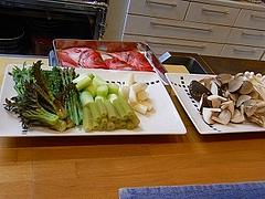 金目鯛と野菜、茸