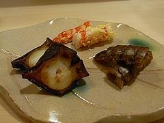 鮹の桜煮(三重)、シャコ(愛知)、エビ黄身おぼろ漬け(大分)