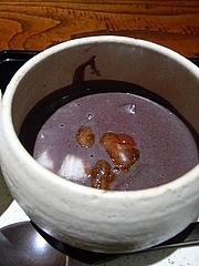 黒米のお粥さん 松の実と古代米、長芋