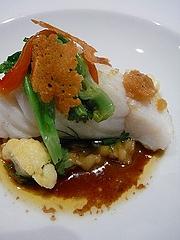 真鱈のロースト、温製サラダ仕立て
