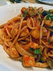 鶏肉と牛蒡のアーリオ・オーリオ・スパゲティ