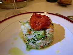 クスクスのサラダ仕立て、 海老味噌ムース