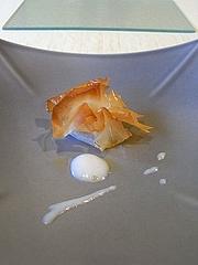 干し鱈のパートフィロー包み揚げ