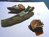 ムール貝・ソラマメ・穴子と紫米