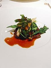 和牛肉のソテーと旬の野菜のフリカッセ