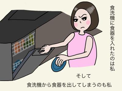食洗機に食器を入れたのは私 そして 食洗機から食器を出してしまうのも私
