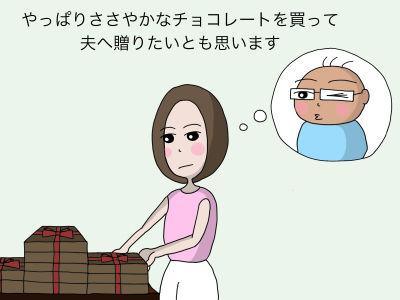やっぱりささやかなチョコレートを買って夫へ贈りたいとも思います