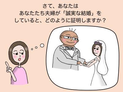 さて、あなたはあなたたち夫婦が「誠実な結婚」をしていると、どのように証明しますか?