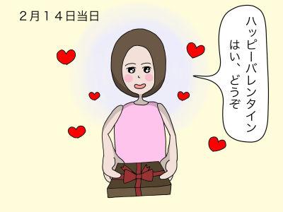 2月14日当日 「ハッピーバレンタイン はい、どうぞ」