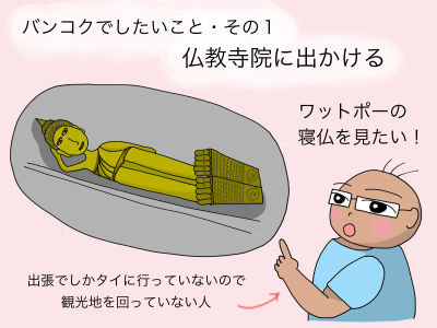 バンコクでしたいことその1:仏教寺院に出かける ワットポーの寝仏を見たい!