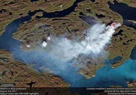 【国際】「森がないのに?」雪と氷のグリーンランドで野火続く 永久凍土を突き進む炎 地球観測衛星が発見