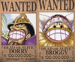 かつて世界を震撼させた巨兵海賊団の船長ドリー&ブロギー懸賞金1億←これ