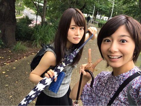 【乃木坂46】「山崎怜奈」と卒業生「市來玲奈」の2ショット写真!