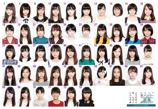 【一覧画像あり】坂道合同新規メンバー募集オーディションの21番が可愛い!【1期初期一覧あり】
