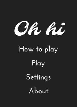「oh h1」 メニュー画面