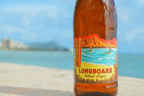 ハワイ ビール ロングボード