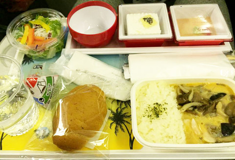 JAL ハワイ 機内 食事