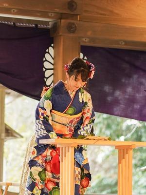 鎌倉宮 成人式振袖 ご祈祷 ロケーションフォト5