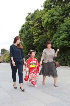 鶴岡八幡宮七五三写真3