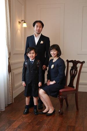 鎌倉小学校入学家族写真
