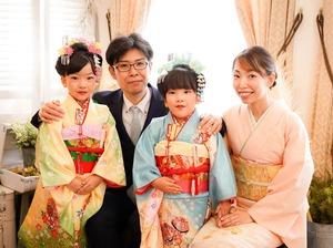 鎌倉七五三7歳写真 前撮り  双子でお祝い 10