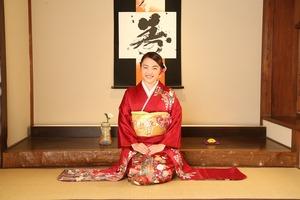 鎌倉成人式振袖 前撮り 和室スタジオ写真