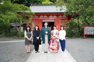 鎌倉前撮りプラン 鎌倉荏柄天神社