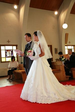 カトリック由比ガ浜教会結婚式7