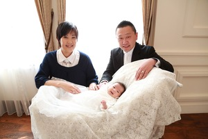 鎌倉お宮参り家族写真