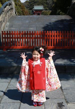 鶴岡八幡宮七五三写真