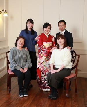 鎌倉成人式家族写真 振袖前撮り写真館