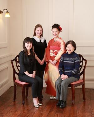 成人振袖前撮り家族写真 鎌倉 逗子