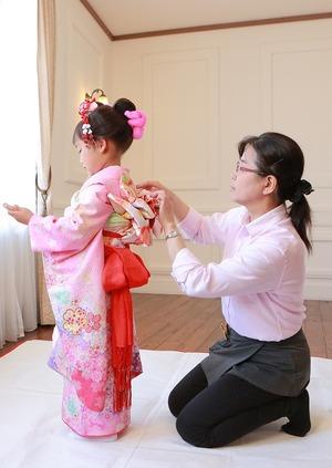 鎌倉七五三7歳手結び帯写真