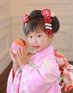 鶴岡八幡宮7歳七五三日本髪画像
