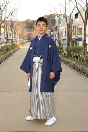 鎌倉小学生卒業袴男児7