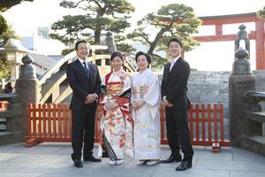 鎌倉鶴岡八幡宮 振袖写真