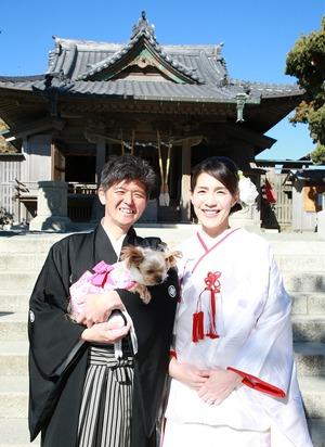 森戸大明神結婚式 写真撮影